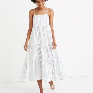 Madewell Petite Cami Tier Midi Dress in Stripe
